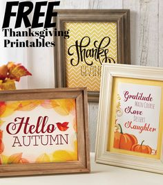 Check out these free fall and Thanksgiving printables perfect for Thanksgiving home decor!
