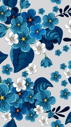Breathtaking deep blue floral illustration that can also serve as an inspiration for surface pattern. Breathtaking deep blue floral illustration that can also serve as an inspiration for surface pattern. Flower Background Wallpaper, Flower Backgrounds, Background Patterns, Wallpaper Backgrounds, Phone Backgrounds, Flower Patterns, Flower Designs, Pattern Flower, Pattern Fabric