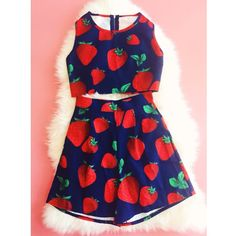 Look sweeter than berries in our adorable two-piece set. ️ #stylecheckin #fashionblogger #wiw #shopping #strawberries #summer #sweet
