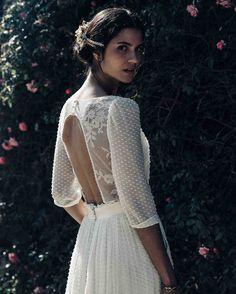 Laure de Sagazan Spring 2018 Wedding Dress Collection | Martha Stewart Weddings – Lace back wedding dress