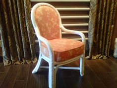Brighten up ratten chairs with Joanne Sunbrella Fabrics at Sheila's on Crowfoot.
