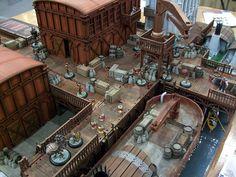 Wolsung is an impressive looking steampunk game, upcoming from Micro Art Studios. Modern Game Tables, Tabletop, 40k Terrain, Miniature Houses, New Hobbies, War Machine, Dieselpunk, Warhammer 40k, Big Ben