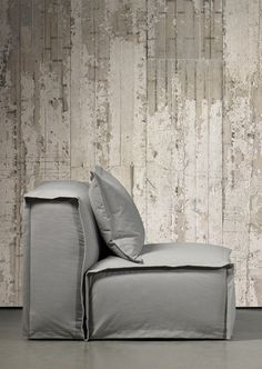 Concrete Wallpaper by Piet Boon, just in case I don't end up in a house with the raw elements exposed!