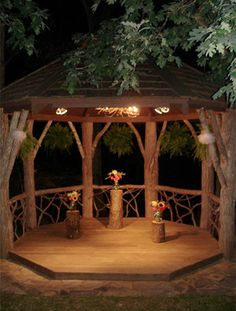 A gazebo is a must in our future home. We shall have a big backyard with space for it. This one looks cosy