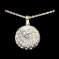 Volleyball - Crystal Necklace by From The Heart. $14.99. Beautiful crystal volleyball necklace. A great gift for you and all your teammates. Casted jewelry is made from pristine pewter and zinc. All of our products are lead, nickel, and cadmium safe and protected from tarnishing.