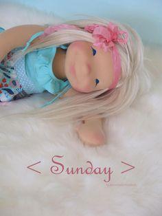 https://flic.kr/p/HYzTY4 | Sunday - 19 inch doll | Natural art doll by Down Under Waldorfs