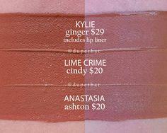 Kylie Jenner ginger dupes lime crime cindy    ✨ Follow CindyLBB✨ Instagram: @cindyslbb Pinterest: @cindyslbb Snapchat: @cindyslbb
