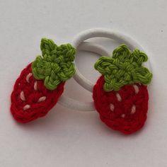 Anleitung für eine kleine gehäkelte Erdbeere  #Applikationen #Anleitungen #crochet #free #patterns #Haekeln #tutorial
