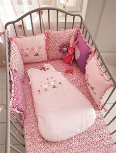Tour de lit bébé modulable thème Baby souris ROSE - vertbaudet enfant