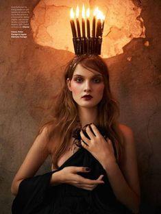 """Sindrome de Estocolmo"" | Model: Kirsi Pyrhonen, Photographer: Peter Farago, Vogue Brasil, December 2012"