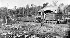 Tren Güires-La Habana. Los españoles instalaron líneas de ferrocarril en Cuba incluso antes que en la propia España (11 años antes), en 1837. El motivo era la necesidad de transporte eficaz y barato de las cosechas de caña de azúcar. Foto de 1960 (aprox).