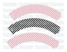 Printable M2M Wedding Owls Pink & Black Cupcake Wrappers | aMerAZNStyLe - Digital Art  on ArtFire