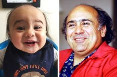 During her pregnancy, the mother of this little boy must've only watched movies with Danny DeVito. Danny Devito, Kevin The Office, Celebrity Look Alike, Funny Adult Memes, Spitting Image, Ian Mckellen, John Legend, Gordon Ramsay, Interesting News