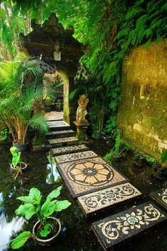 """to the shrine, Bali / Indonesia (by Ahmad. """"Path to the shrine, Bali / Indonesia (by Ahmad Syukaery).""""""""Path to the shrine, Bali / Indonesia (by Ahmad Syukaery). Beautiful World, Beautiful Places, Path Design, Design Ideas, Zen Garden Design, Japanese Garden Design, Foyer Design, Garden Paths, Garden Pond"""