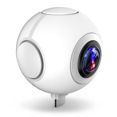 360 Degree Dual Spherical Lens VR Video Camera,KANARS Panoramic Digital Camera for Samsung, Nexus, LG, HTC, and More Android Smartphones - white. Dual Spherical Lens provide 360 degree view for both horizontal and vertical visual angle.KANARS is featured with a high-standard resolution of 2048x1024 for images and 1080P max for videos to optimize your 360 Degree artworks. Gives you a brand new 360 Degree virtual reality experience.Crafted as the world tiniest spherical camera, it allows…