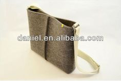 new day stylish style felt tote bag with adjustable strap