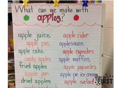 Apples, Apples, Everywhere! - Fun in First