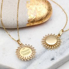I've just found Personalised Yellow Gold Sun Locket. A beautiful 18ct yellow gold vermeil opening sun locket which can be personalised with your choice of words, to create a treasured bespoke gift. £45.00