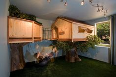 Kid's Treehouse Bedroom-because he loves being outside