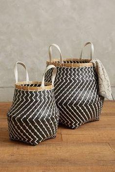 Anthropologie Zigzag Stripe Baskets #AnthroFave