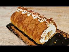 Cea mai buna rulada tiramisu gata in cateva minute | Tiramisu listo en unos minutos - YouTube Tiramisu, Deserts, Bread, Chocolate, Facebook, Youtube, Instagram, Food, Sweets