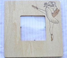 Ballerina wood burned picture frame  I can personalize frames with your favorite quotes, pictures, teams, hobbies etc     socalwoodwork.com