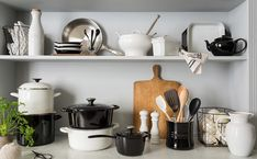 the entire set of the new black and white Le Creuset
