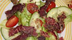Lean biltong salad 12 Week Challenge, Biltong, Daily Meals, Beef, Salad, Recipes, Food, Meat, Meal