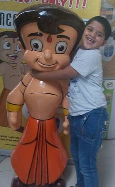 With his hero #ChhotaBheem