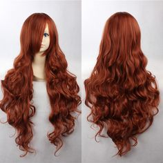Fashion 90cm Long Auburn Cosplay Wigs Ladies' Curly Wigs Cos 037E-in Synthetic Wigs from Health & Beauty on Aliexpress.com | Alibaba Group