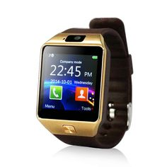 Yuntab SW01 Watch Bluetooth Smart Watch Fitness Wrist Wrap Watch Phone with Camera Touch Screen for Samsung HTC LG Android Phone Smartphone, support SIM card (SW01-Golden). All-in-1:Make phone call directly from the smart watch, including answering and dial-up. SIM slot,support make calls by Bluetooth Mode or Smartwatch Mode. 2 Slots Design: The Smart Watch acts as a phone with a micro SIM card, you can also write and send messages via the Smart Watch. Expand its storage for MP3/MP4 files...