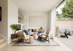Happy House! Love the neutral color scheme, transition, window treatment length and 'hidden' top.