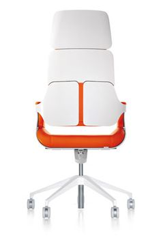 Silver office chair - Executive chair from Interstuhl by Hadi Tehrani