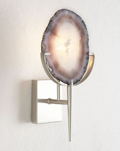 H7WCF  Agate Wall Sconce Horchow