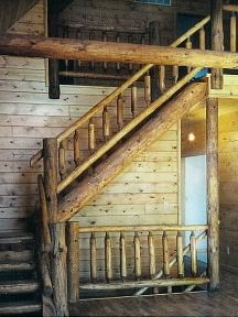 Stairways built with Mortise Tendon Design - Logstairways