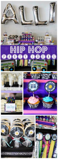 Check out this cool hip hop birthday party! See more party ideas at CatchMyParty.com!
