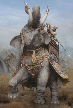 War Elephant, Artist And Craftsman, India Art, Armor Concept, Arm Armor, Indian Artist, Elephant Design, Elf, Asia