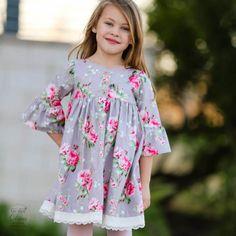 Sugar Dot Dress - Vintage Style Pinafore Dress and Suspender Skirt Pattern PDF - 1 to 10 years - Tie Dye Diva Patterns Dot Dress, Baby Dress, Little Girl Dresses, Girls Dresses, Little Girl Dress Patterns, Outfits Niños, Vintage Stil, Clothing Patterns, Sewing Patterns