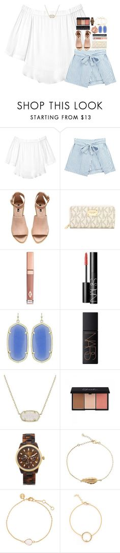 summer lovin ☀️ by hmcdaniel01 ❤ liked on Polyvore featuring Rebecca Taylor, Chicnova Fashion, HM, MICHAEL Michael Kors, Charlotte Tilbury, NARS Cosmetics, Kendra Scott, Stila, Michael Kors and Accessorize