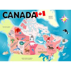 Beautifully illustrated bilingual map of Canada teaches all about this great country and its provinces/territories. Puzzle pieces are shaped like individual provinces or territories. Children will lov Map Puzzle, Floor Puzzle, Ottawa, Niagara Falls Toronto, Ontario, Migrate To Canada, Immigration Canada, Rodan And Fields Consultant, Sweden Travel