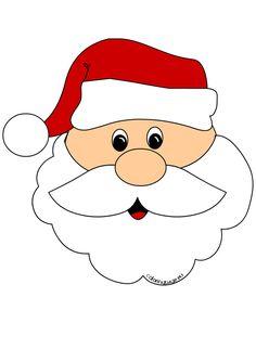 Santa Claus Face Coloring Page Cricut