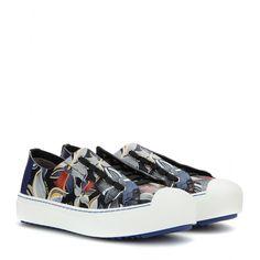 Fendi - Printed leather sneakers - mytheresa.com