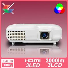 720.00$  Buy now - http://ali28i.worldwells.pw/go.php?t=1000003150062 -  CRE X2000 3 lcd 3 led video projector multimedia hdmi full hd 3d pico home projector 1920X1080 native Full HD 1080P projector
