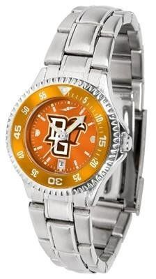 Bowling Green State Women's Stainless Steel Dress Watch by SunTime. $88.95. Officially Licensed Bowling Green State Falcons Women's Stainless Steel Dress Watch. Stainless Steel. Women. Water Resistan. Links Make Watch Adjustable. Bowling Green State Women's stainless steel watch. This Falcons dress watch with rotating bezel color-coordinated to compliment your favorite team logo. The Competitor Steel utilizes an attractive stainless steel band. Perfect for any occas...