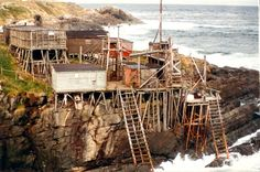 Pouch Cove, Newfoundland x would make Popeye feel at home. Newfoundland Canada, Newfoundland And Labrador, O Canada, Canada Travel, East Coast Travel, Atlantic Canada, Prince Edward Island, Fishing Villages, Nature Scenes