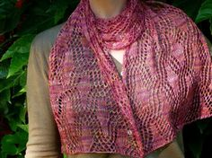 Beautiful scarf... Another scarf I want to knit. This pattern uses a fine yarn and has an intricate, decorative design.
