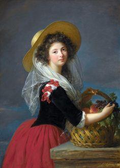 Louise Élisabeth Vigée Le Brun (1755 –1842) born in Paris, also known as Madame…