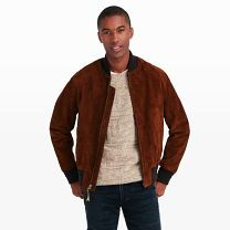 Golden Bear Bomber Jacket - Beloved for its durable, San Francisco-made outerwear since 1922, Golden Bear puts out classic styles like this bomber jacket, crafted from soft goat suede with rib knit trimmings.