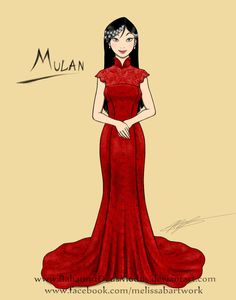 Mulan wedding gown sketch by BahamutDeusModus >>> CHECK OUT MY OTHER PINS! @AYYALICIA <<<