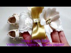 Sapatinhos de bebê Renda e feltro | Cantinho do Video